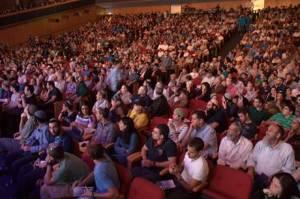 """כינוס הימין. הרבה דתיים, טיפה חילונים.  צילום: הלל מאיר, מתוך אתר """"בשבע"""""""