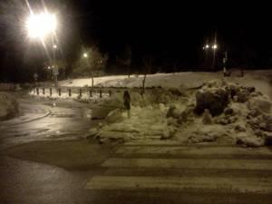 שלג בקרית ארבע. קפאון.  צילום: עקיבה לם