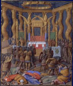פומפי נכנס למקדש בירושלים. ציור של ז'אן פוקה מהמאה ה-15