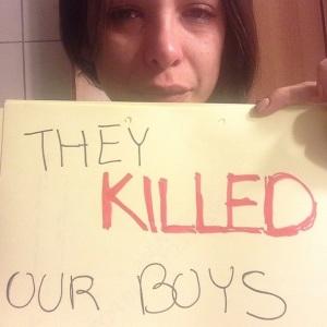 הם הרגו את הבנים שלנו. מתוך האינסטגרם של מורן אטיאס