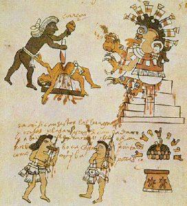 """האצטקים הקריבו קורבנות אדם לפיצוי האלים - למען זריחת השמש - אדון שמאל יקריב אחיו לפיצוי """"הטבע"""" - למען הזכות להקרא 'מוסרי'"""