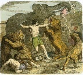 עבדים נטרפים לשם בידור המנצחים - גורל היהודים של גורדון