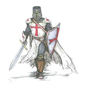 ציור אנימציה של צלבן - המחנה האילוזי של ימי הביניים