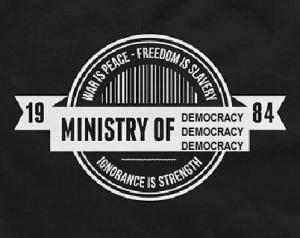 """הלוגו הלא רשמי של המכון הישראלי לדמוקרטיה - הצעתו של ד""""ר כרמון"""