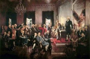 מעמד החתימה של החוקה האמריקאית - ממשלה של העם, בידי העם למען העם לא של אליטה, בידי אליטה, למען אליטה