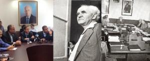 מימין לשמאל - בראשית הרצל היה התמונה המייצגת, לאחר מכן בן גוריון עתה רבין - בעתיד, סתיו שפיר?