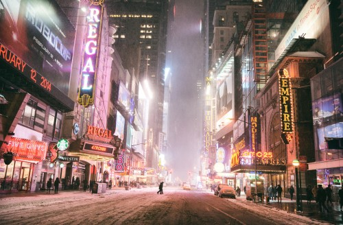 New York City - Snow - Hercules - Times Square --XL