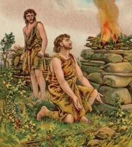איור של קין והבל. שימשו לארצ'ר מקור השראה לספר מופתי