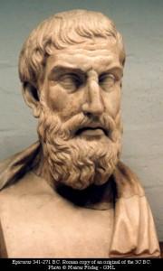 פסל בדמותו של הפילוסוף אפיקורס מהמאה ה-3 לפני הספירה.