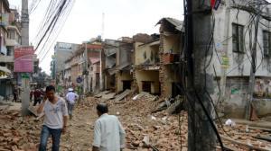 ערבוב קלפים מחדש. הריסות בעקבות רעידת האדמה בנפאל