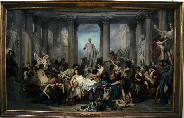 ציורו של הצייר הצרפתי תומאס קוטור - הדקדנס הרומאי - 1847