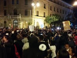 ההפגנה ביום חמישי האחרון מול בית ראש הממשלה. צילום: ניב חכלילי בטוויטר