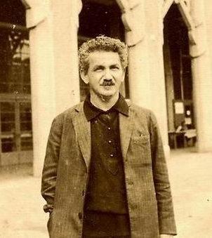 תמונתו של ברל כצנלסון -הוא ראה את העיוורון המשיחי משמאל.