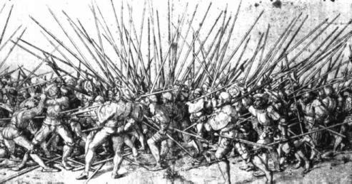 תמונה של מרד האיכרים בגרמניה, המאה ה-16, הנזיר לותר, אבי הרפורמה היה הסמכות הרוחנית לטבח האצילים באיכרים - הסמכות הסמלית.