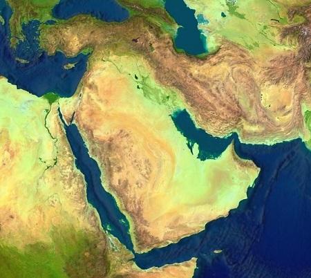 מפת המזרח התיכון, ללא גבולות. הכול משתנה