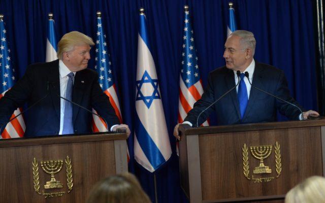"""רואים את המזרח התיכון עין בעין. הנשיא טראמפ ורה""""מ נתניהו. צילום: חיים צח/לע""""מ"""